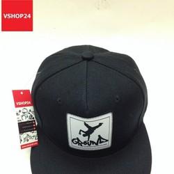 Nón snapback logo vuông GROUND đen 115