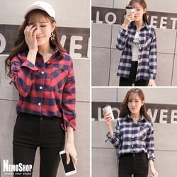 Áo sơmi caro thời trang dạo phố Hàn Quốc - 3099 - Hàng Nhập