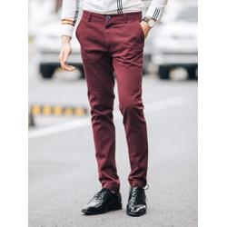 Đậu.Đậu - Quần kaki nam 2017 - màu đỏ đô kaki2017