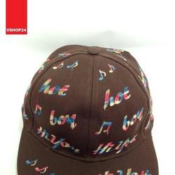 Mũ snapback HOT BOY màu nâu 129