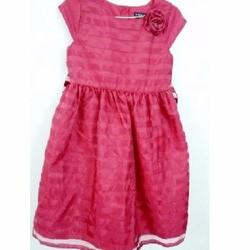 Áo đầm George màu đỏ 3 lớp - Size 14