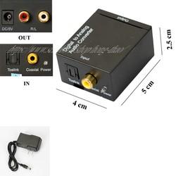 Hộp chuyển đổi tín hiệu Coaxial-Optical sang Audio R-L - 2