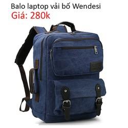 Balo laptop vải bố Wendesi