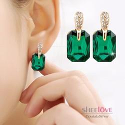Bông tai thời trang đá phong thuỷ lấp lánh xinh xắn HKE-E408