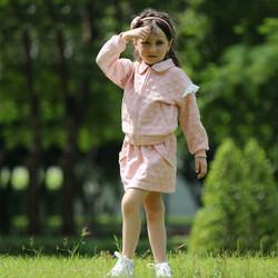 Bộ nỉ + chân váy cho bé từ 3- 7 tuổi