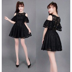 J760-Jum short ren hở vai giả váy xinh xắn
