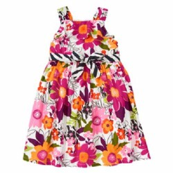 Áo đầm Gymboree Safari Flower Belted Dress - Size 9