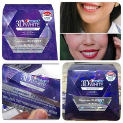 Miếng dán trắng răng Crest 3D White Luxe Whitestrips