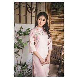 Áo dài hồng