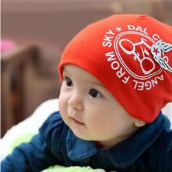 Mũ bông ấm áp cho bé