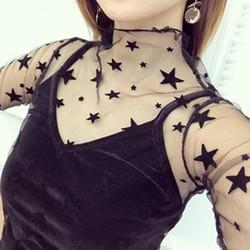 Áo lưới ngôi sao kèm áo lót trong