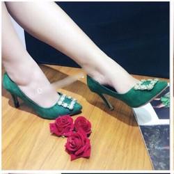 giày cao gót mũi nhọn tag đá vuông 1648