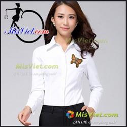 HÀNG CAO CẤP SƠ MI ĐiỂM NHẤN BƯỚM XINH MV090