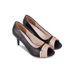giày cao gót đính đá Ngọc Thạch