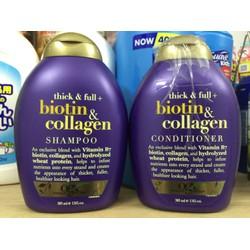 Bộ Dầu Gội, Xả Biotin và Collagen chống rụng tóc, kích thích mọc tóc