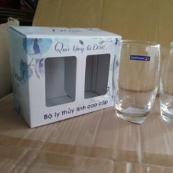 Bộ 2 ly thủy tinh Luminarc- quà tặng từ Dove