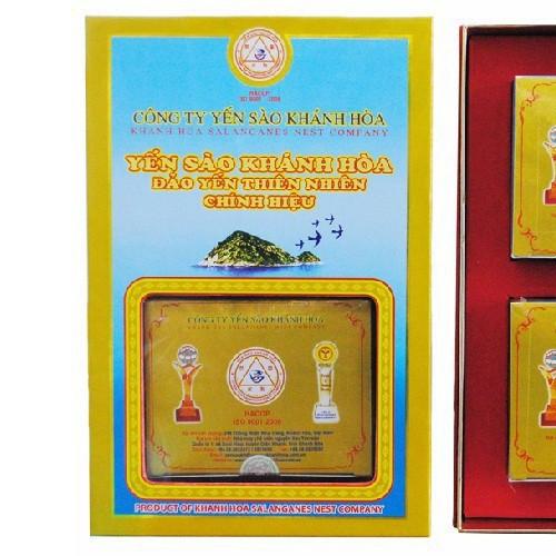 Yến tinh chế Đảo Khánh Hòa làm sạch Hộp quà tặng 2 hộp 5g