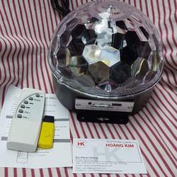 Đèn quả cầu xoay - pha lê cảm biến nhạc _Led magic ball light