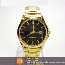 Đồng hồ nam kim vàng thép chống rỉ