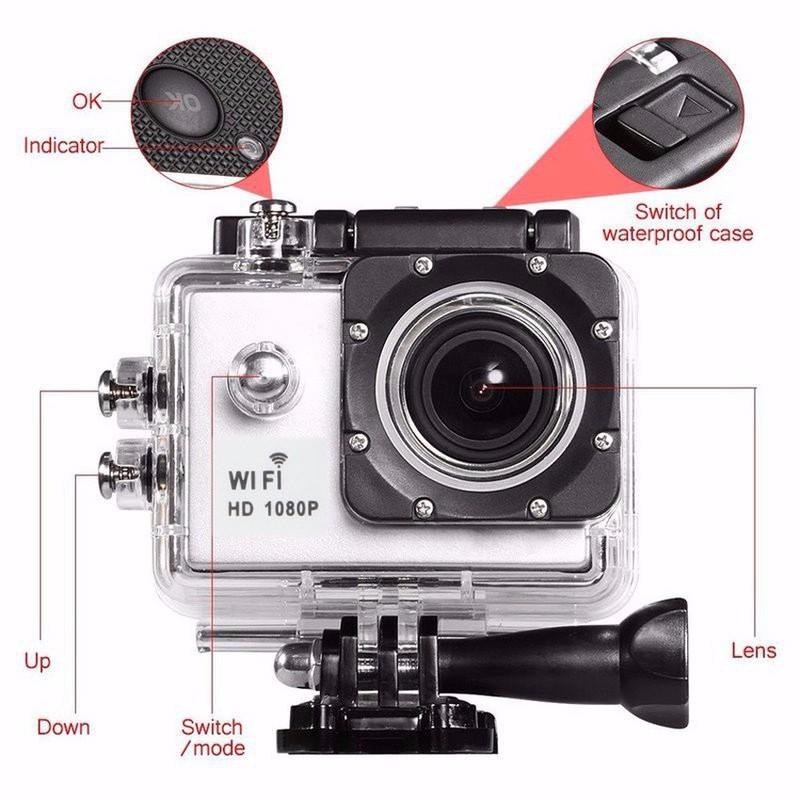 Camera hành trình HD1080 SPORT CAM A19 có WIFI - Trắng 3