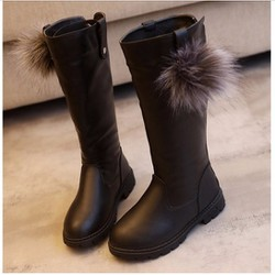Giày bé gái boot ống dưới gối
