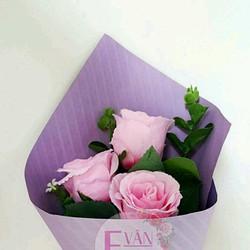 Bó hoa hồng vải lụa
