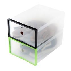 Combo 2 hộp đựng giày trong suốt có khung cứng cáp
