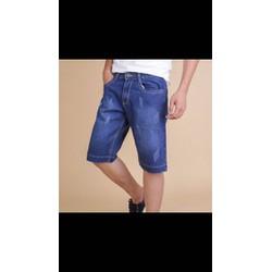 quần short jean nam wash rách