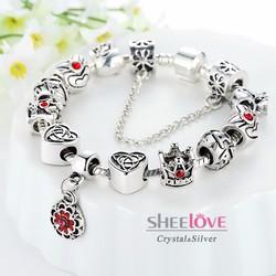 vòng tay nữ hạt charm thời trang sang trọng sành điệu PA1430