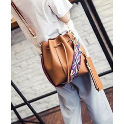 HÀNG NHẬP LOẠI I Túi xách thời trang nữ thắt rút kèm ví con P283