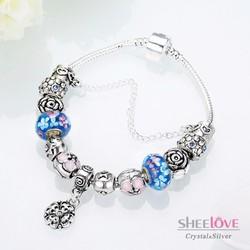 vòng tay nữ hạt charm thời trang sành điệu PDRH050-B