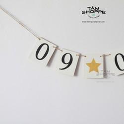 Dây treo chữ số ngày sinh nhật, ngày cưới