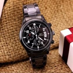 Đồng hồ nam cao cấp dây đen inox đặc