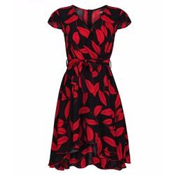 Đầm Xòe Cổ V Thời Trang - Đỏ
