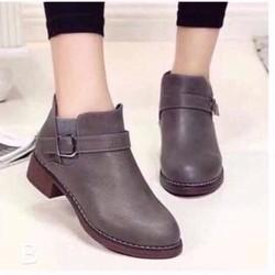 giày boot da thắt dây 1406