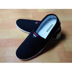Giày lười vải nam toms đen hot 2017