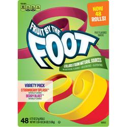 Kẹo Dẻo Trái Cây Dạng Cuộn Foot Hộp 48 Gói