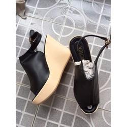 giày đế xuồng hở mũi cao 10cm