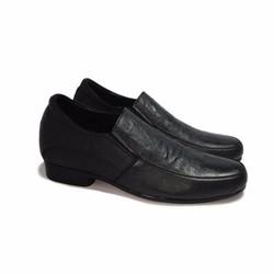Giày tăng chiều cao da thật S953 sần cao 6cm
