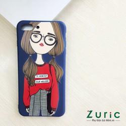Ốp lưng nhựa dẻo hình cô gái iphone 7 Plus