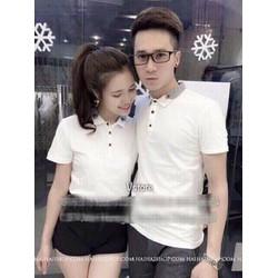 ÁO THUN COUPLE CỔ BẺ HÀN QUỐC