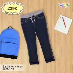 Quần jeans dài lưng khác màu 25-50Kg-charcoal