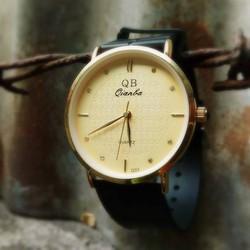 Đồng hồ nam dây cao su mặt đính đá Qianba