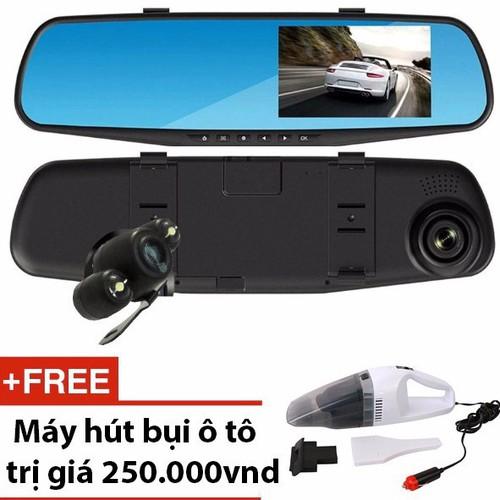 Worldmart camera hành trình gương chiếu hậu có camera lùi cao cấp tặng kèm quà