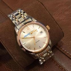 Đồng hồ nam mặt trắng dây demi 20337