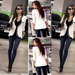 Áo khoác vest phối viền đen