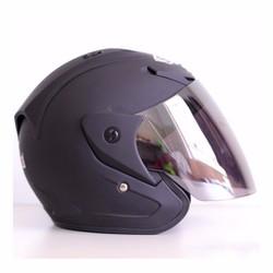 Mũ bảo hiểm Snell 3_4 đen nhám