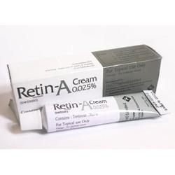 KEM KÍCH ĐẨY MỤN ẨN DƯỚI DA TRỊ MỤN  RETIN-A CREM TRETINOIN O.O25