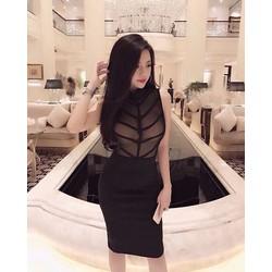 Đầm ôm tay con đính tag Miu Xinh