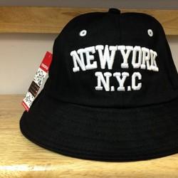 Nón bucket thời trang loại I NEW YORK đen 07